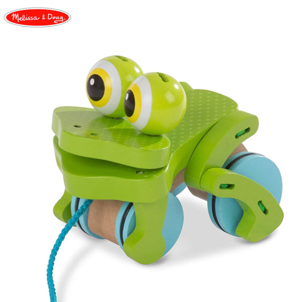 Melissa & Doug Дървена жабка за дърпане 13205