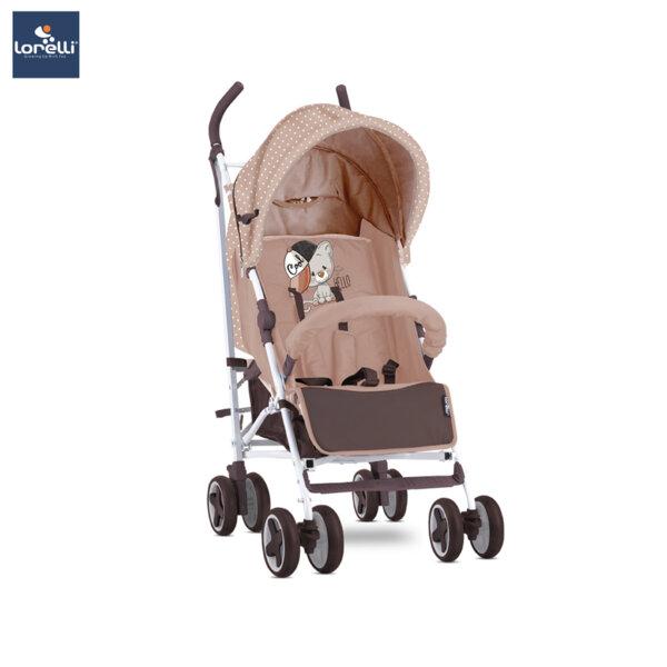 Lorelli детска количка IDA BEIGE COOL CAT 10021301935