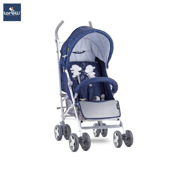Lorelli Детска количка IDA DARK BLUE HAPPY HIPPO 10021301956