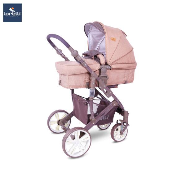 Lorelli Детска количка VERSO BEIGE&BROWN LINES 10021361940