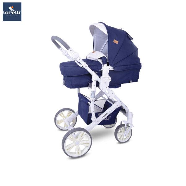 Lorelli Детска количка VERSO DARK BLUE FLOWERS 10021361959