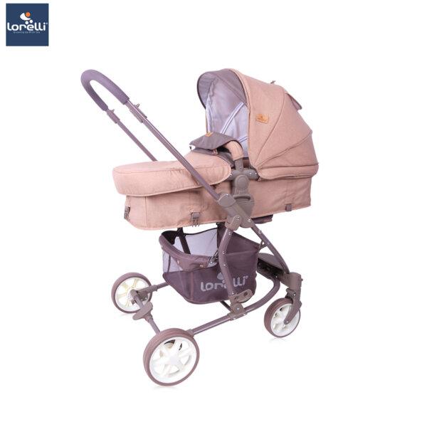 Lorelli Детска количка ASTER BEIGE&BROWN LINES 10021371940