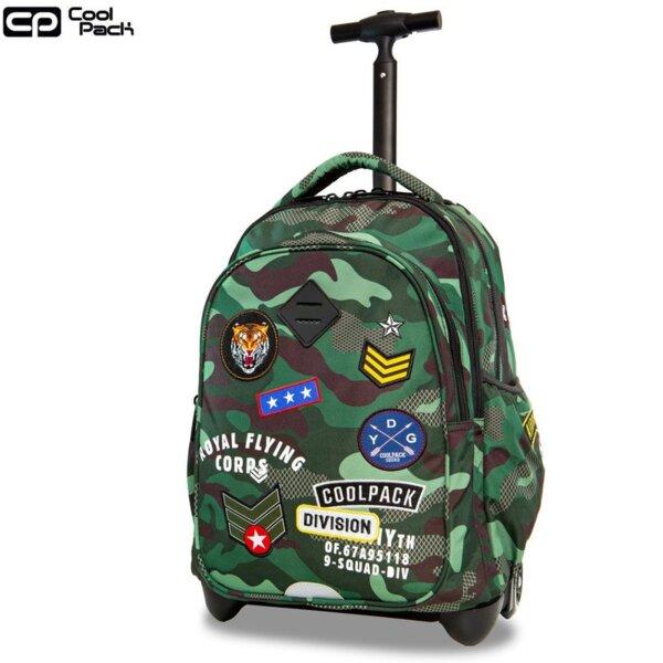 Cool Pack Junior Раница на колела Camo Green Badges A28110