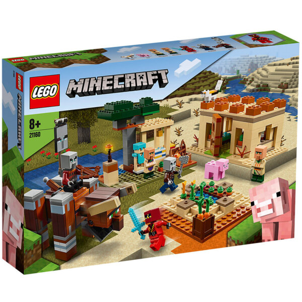 Lego 21160 Minecraft Нападение на Илагер