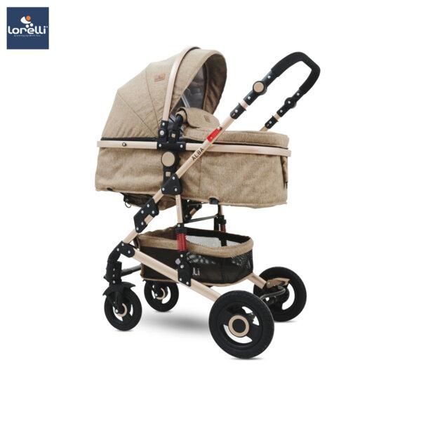 Lorelli Детска количка ALBA SET DARK BEIGE 10021471976