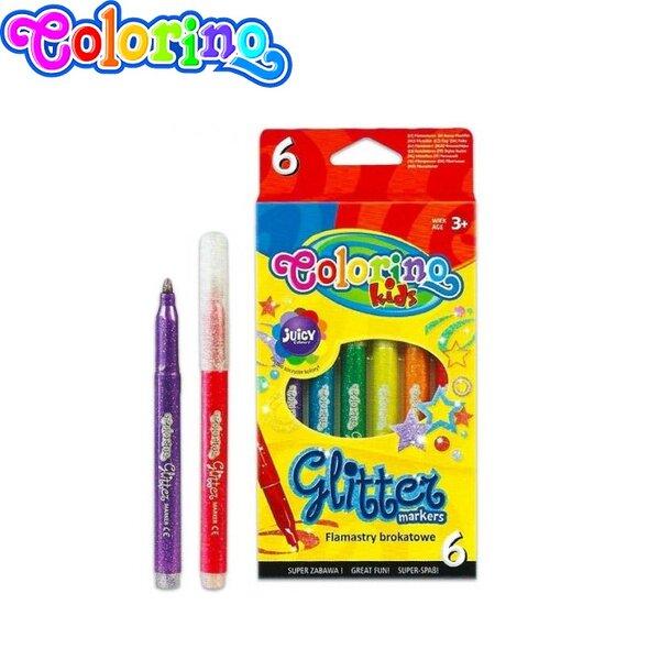 Colorino Kids Брокатни флумастри 6 цвята 65641