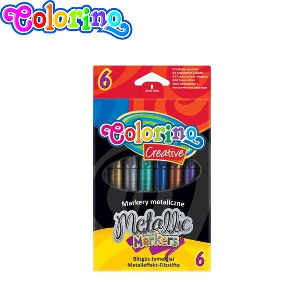 Colorino Kids Маркери 6 цвята Металик 32582