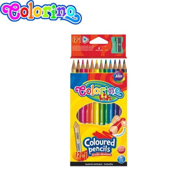 Colorino Цветни моливи 12 цвята триъгълни + острилка 54706