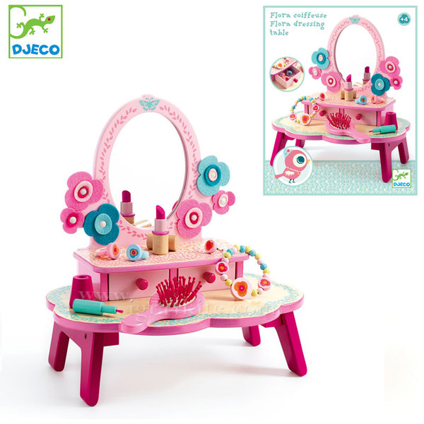 Djeco - Дървена тоалетка за малки дами Flora 06553