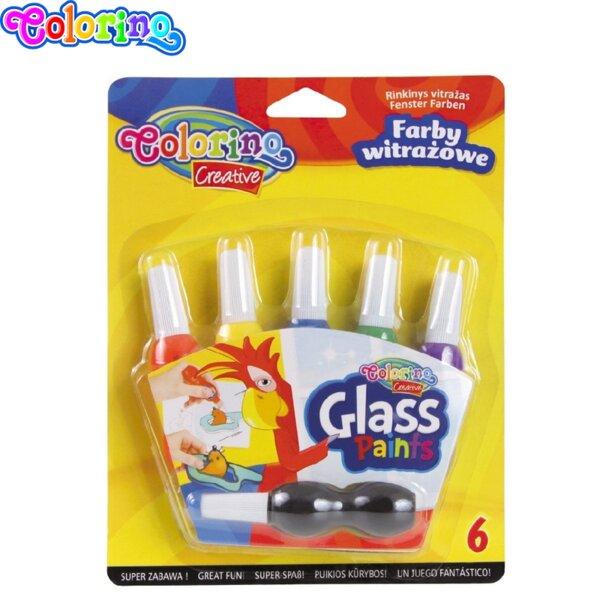 Colorino Боички за стъкло 6 цвята 32803