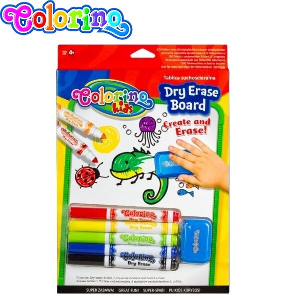 Colorino Kids Бяла дъска за рисуване комплект 65795