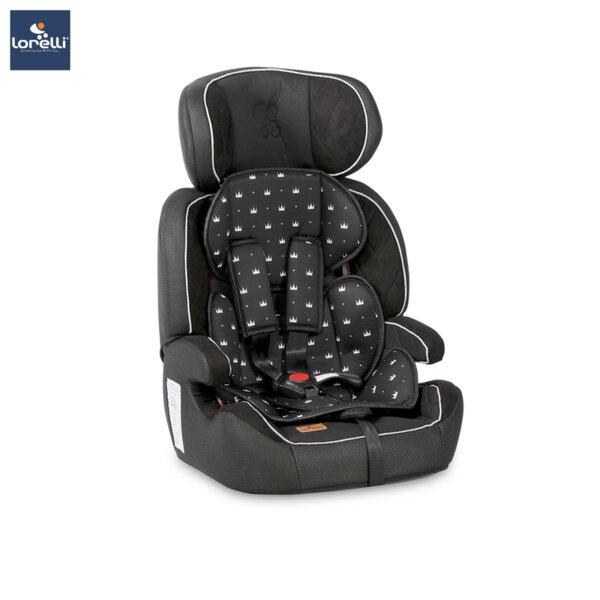 Lorelli - Столче за кола NAVIGATOR BLACK CROWNS 10070902013