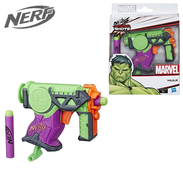 Hasbro Nerf Marvel Бластер Микрошотс Хълк E2931