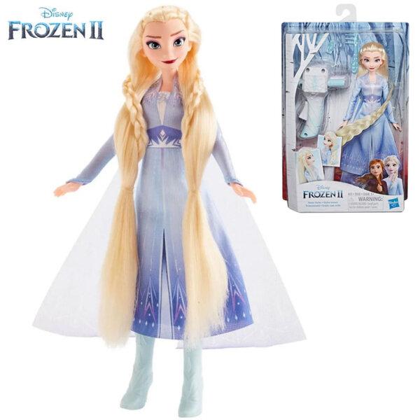 Disney Frozen II Кукла Елза с дълга коса и аксесоари за прически E7002