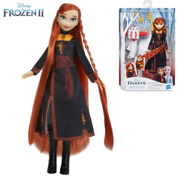 Disney Frozen II Кукла Анна с дълга коса и аксесоари за прически E7003