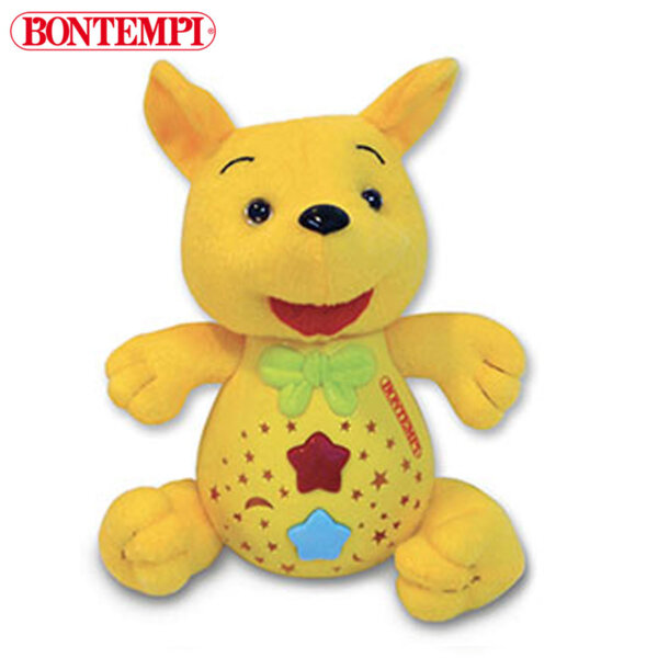 Bontempi Плюшена музикалнa играчка с прожектор Кенгуру 702025