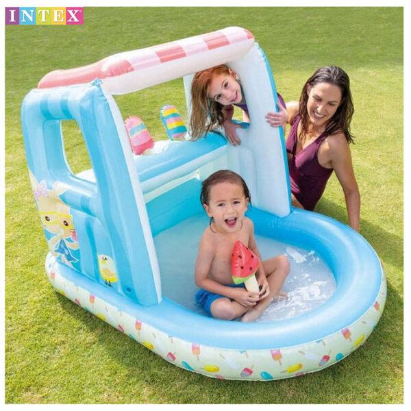 Intex Надуваем център с басейн и щанд за сладолед 48672
