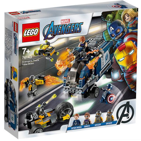 Lego 76143 Super Heroes Marvel Avengers Повалянето с камион на Отмъстителите