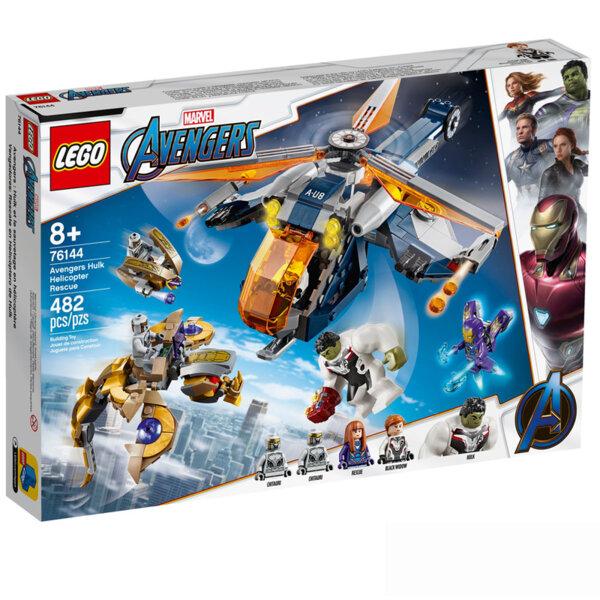 Lego 76144 Super Heroes Marvel Avengers Хълк и Отмъстителите: Спасяване с хеликоптер