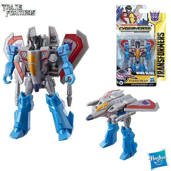 Transformers Cyberverse - Трансформърс екшън фигура 10см Starscream Class E1883