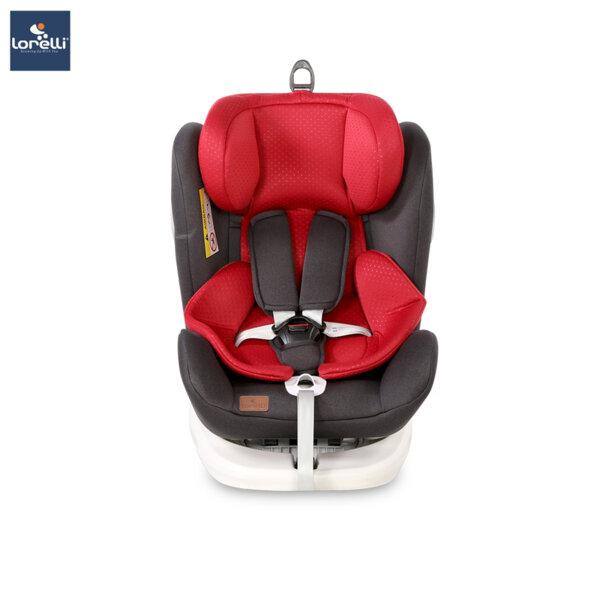 Lorelli - Столче за кола LUSSO SPS ISOFIX BLACK&RED 10071112018