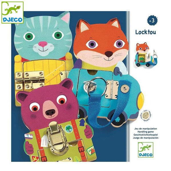 Djeco Детска образователна игра Животни и ключалки Locktou DJ01664
