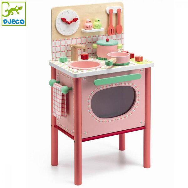 Djeco Детска дървена кухня Lila's cooker DJ06504
