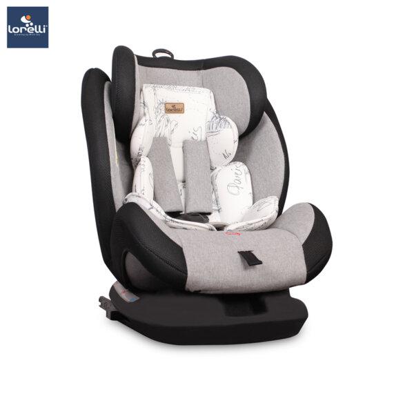 Lorelli - Столче за кола CORSICA ISOFIX BLACK&GREYCITIES 10071261972