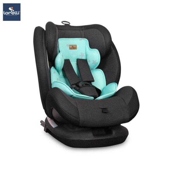 Lorelli - Столче за кола CORSICA ISOFIX BLACK&GREEN STAR 10071261978