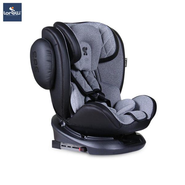 Lorelli - Столче за кола AVIATOR ISOFIX BLACK+LIGHTGREY 10071301901