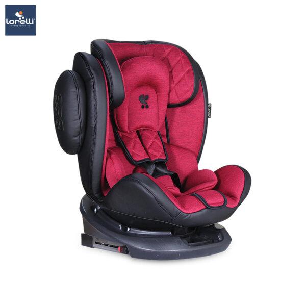 Lorelli - Столче за кола AVIATOR ISOFIX BLACK+RED 10071301903