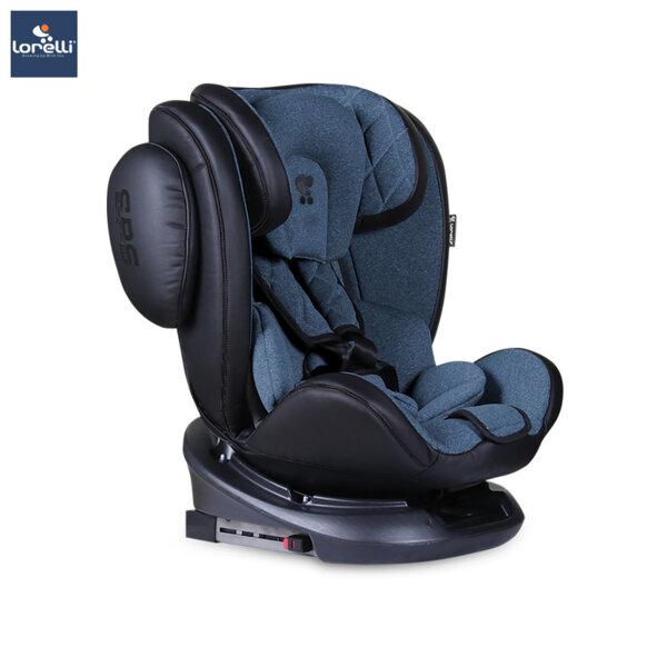 Lorelli - Столче за кола AVIATOR ISOFIX BLACK+BLUE 10071301904