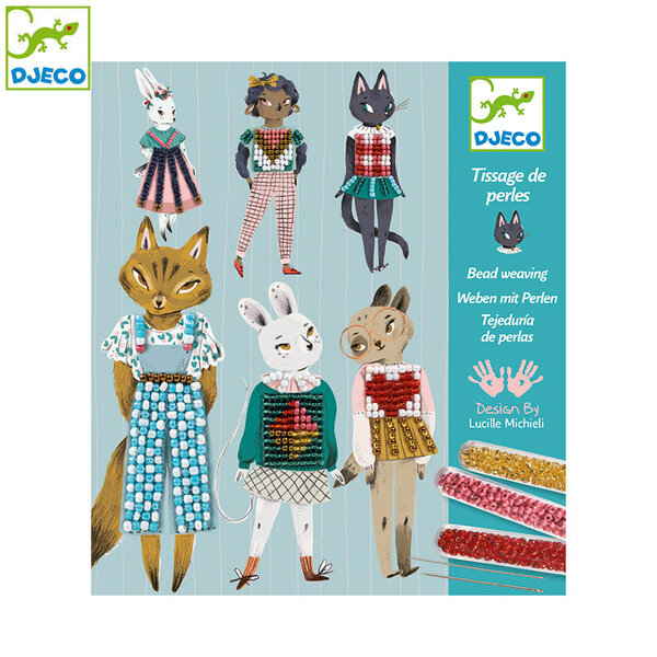 Djeco Комплект картини за бродиране Kitty cats DJ09843