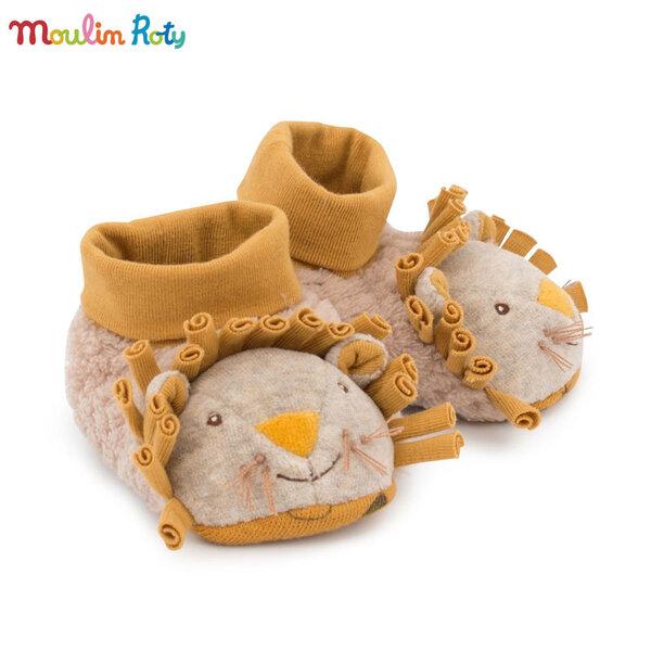 Moulin Roty Бебешки пантофки 0-6м. лъвче 669010