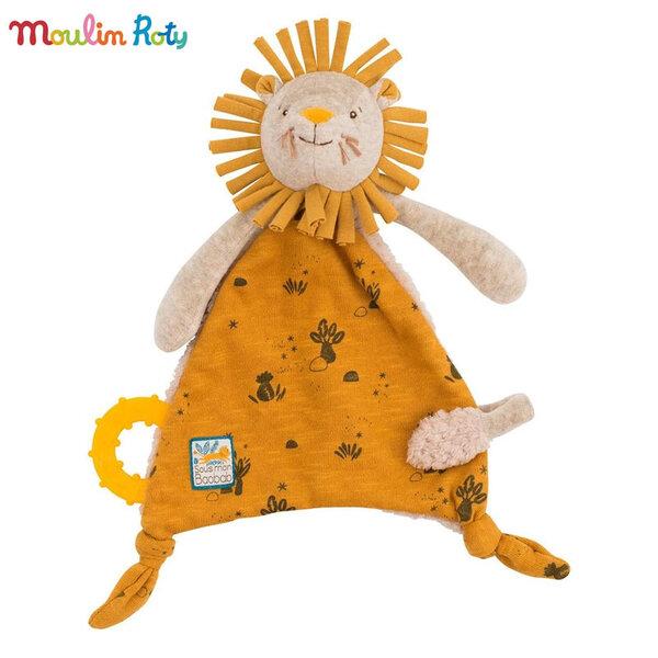 Moulin Roty Плюшена играчка кърпичка Лъвче 669015