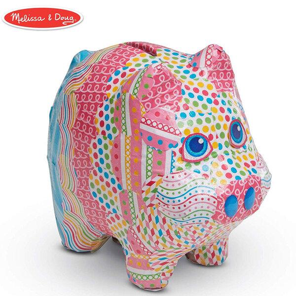Melissa&Doug Детски комплект за декупаж касичка прасенце 40106