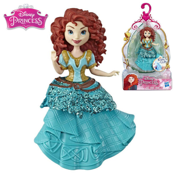 Disney Princess Мини кукла Мерида Royal Clips Fashion E3049