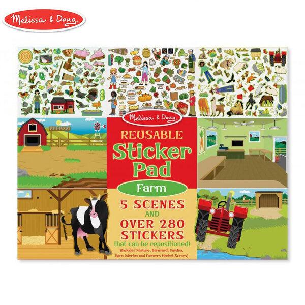 Melissa&Doug Книжка със стикери Ферма 40501