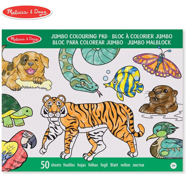 Melissa&Doug Книжка за оцветяване животни голяма 14200