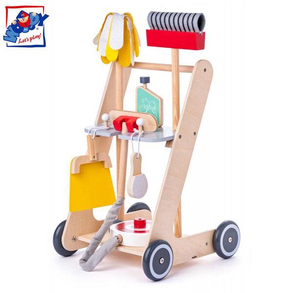 Woody Дървена количка за почистване 91934
