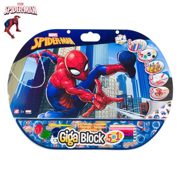 Spiderman Комплект за оцветяване с блокче 5в1 Спайдермен16526
