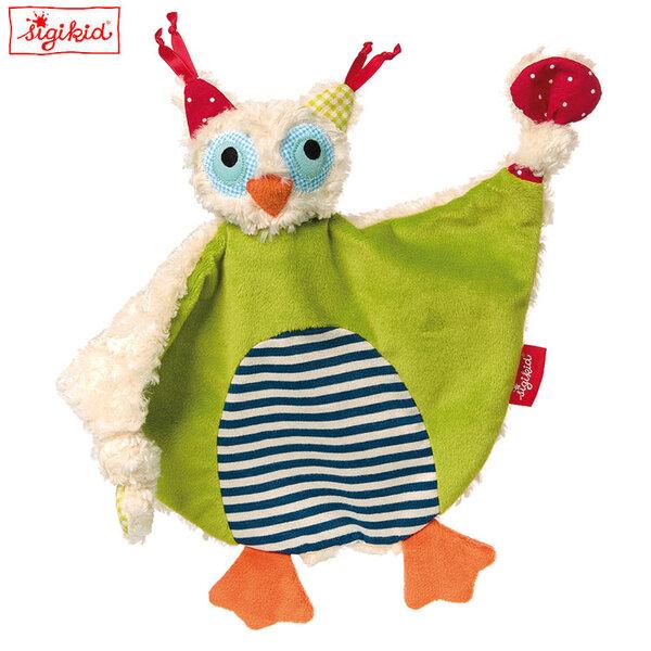 Sigikid Плюшена играчка кърпичка Бухал 41929