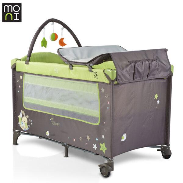 Moni Детска кошара Sleepy зелена 106500