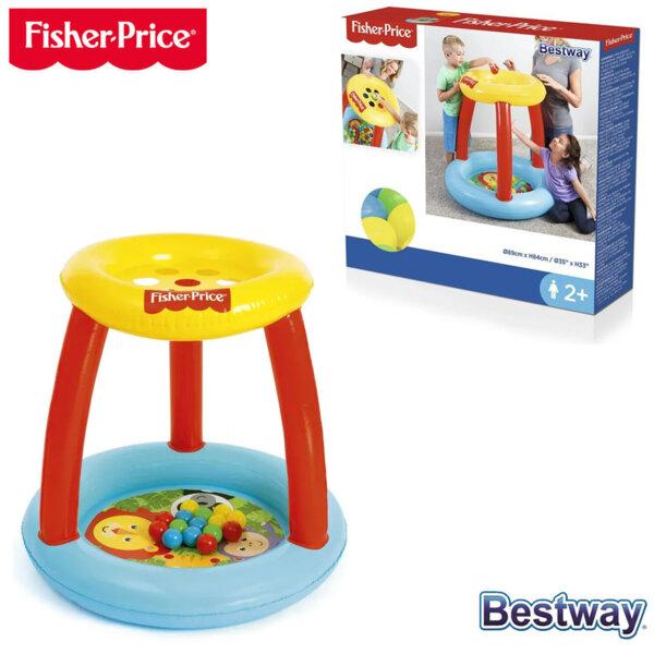 Fisher Price Bestway Надуваем детски кът с топки 93541