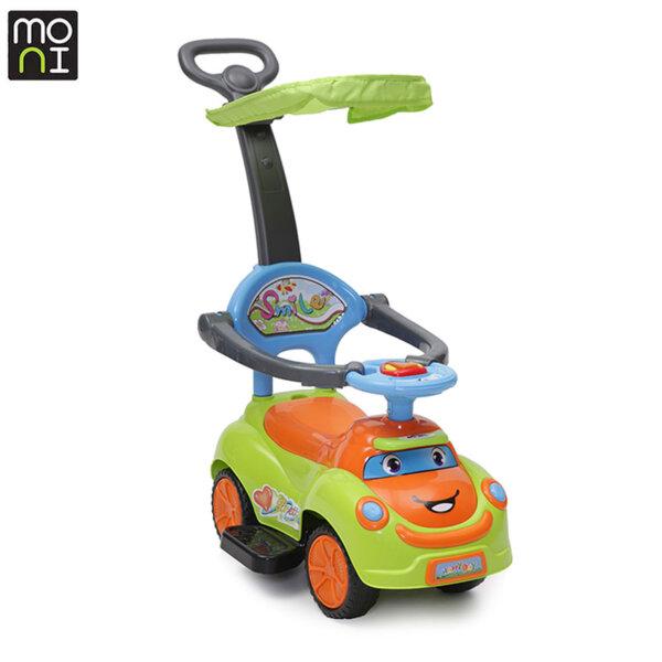 Moni - Детска кола за бутане с крачета Smile green 101784