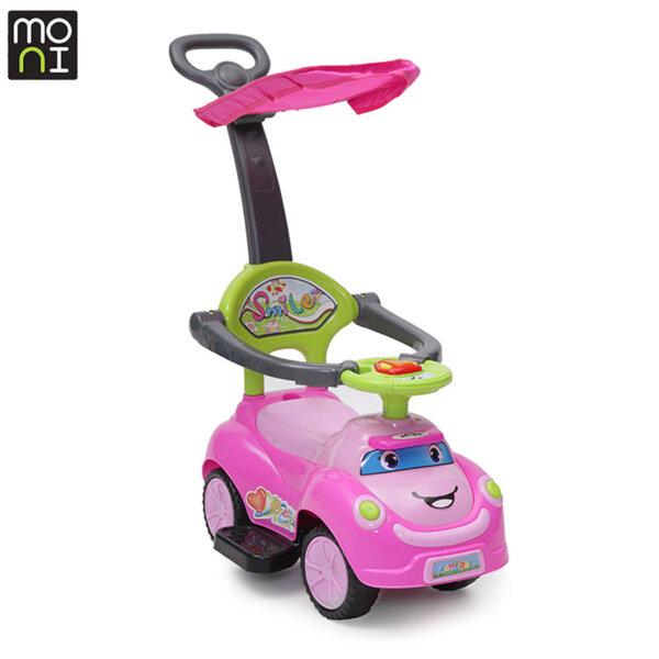 Moni - Детска кола за бутане с крачета Smile pink 101783