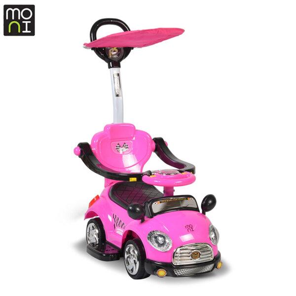 Moni - Детска кола за бутане с крачета Paradise розов 107402