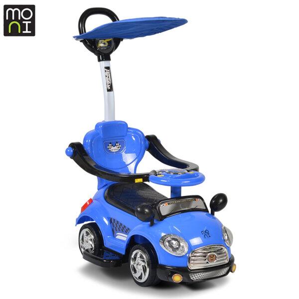 Moni - Детска кола за бутане с крачета Paradise синя 107403
