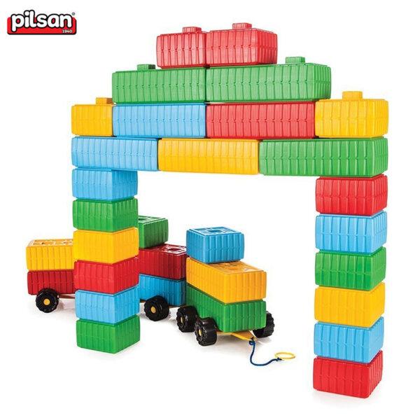 Pilsan Детски строител тухлени блокчета 43 части 03251