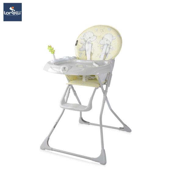 Lorelli- Столче за хранене JOLLY YELLOW HAPPY HIPPO 10100081924